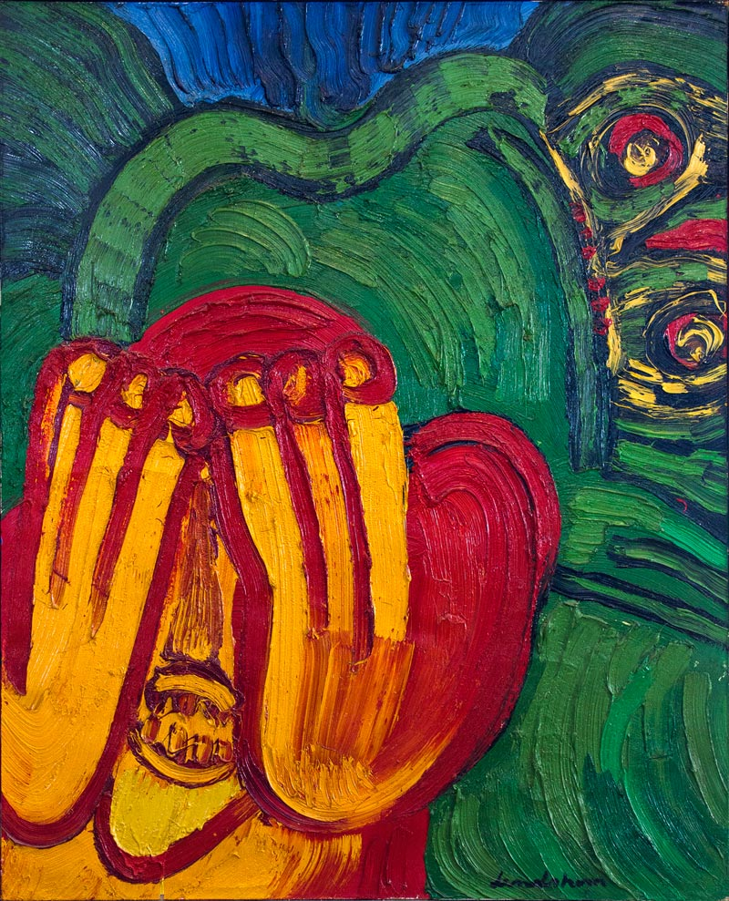 Bengt Lindstrom - Scream (homage to Munch), 1974