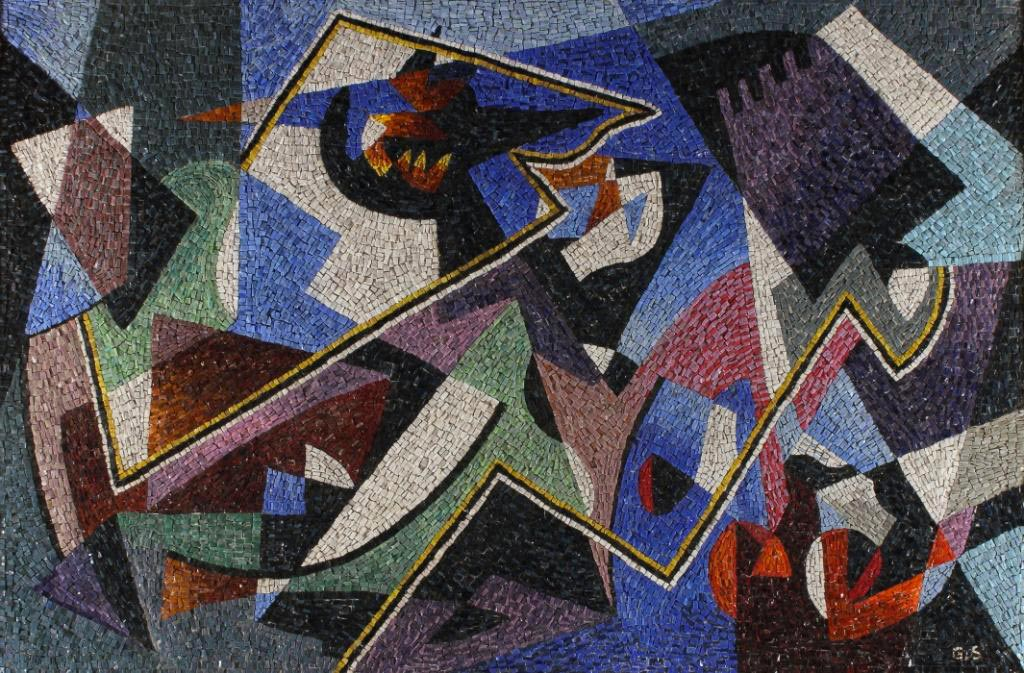 GINO SEVERINI - Composition with musical instruments,1952