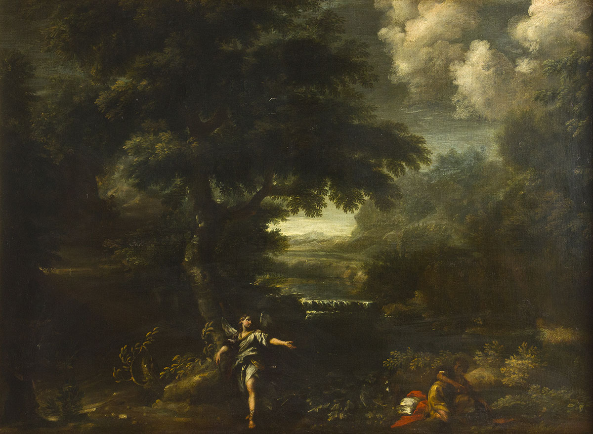Grimaldi - Landscape with Tobiolo and the Archangel